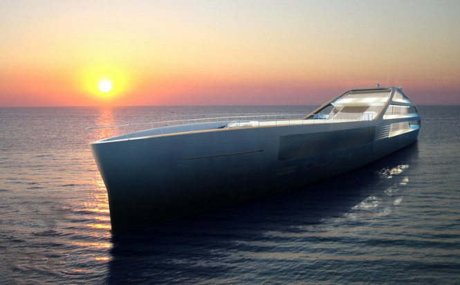65m megayacht Jolly Roger concept by PS+A Palomba Serafini for Benetti Design Innovation Project 2012