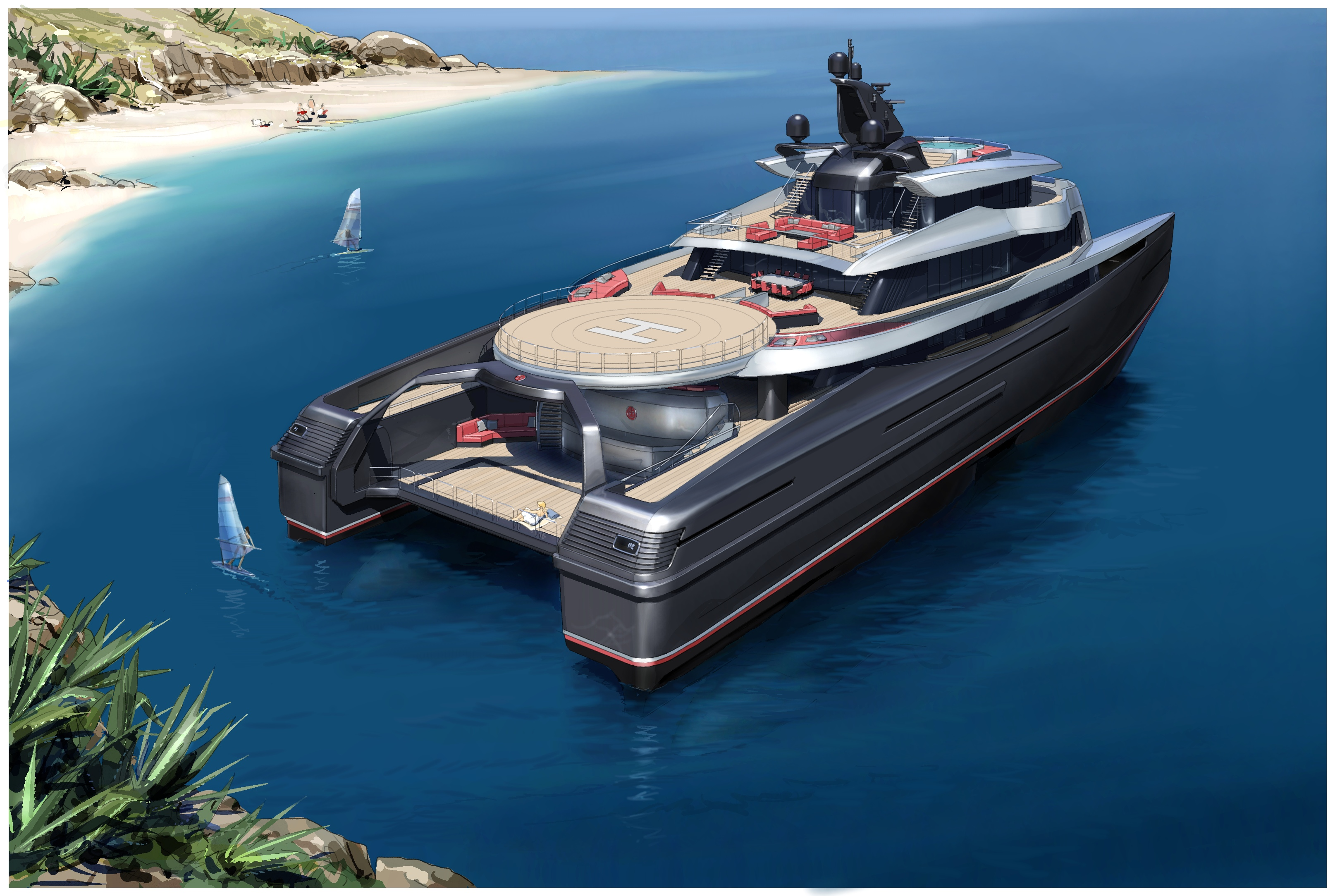mega luxury yachts sale with 63m Swath on 63m Swath furthermore Mayan Queen Iv likewise Eclipse 73837 likewise Legend The 77m Soviet Icebreaker Turned Explorer Yacht 32317 also La Belle Il Primo Yacht Super Lusso Al Mondo Per Sole Donne.