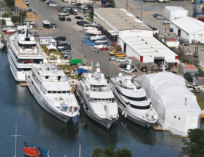 Aerial view of Dania Cut Super Yacht Repair