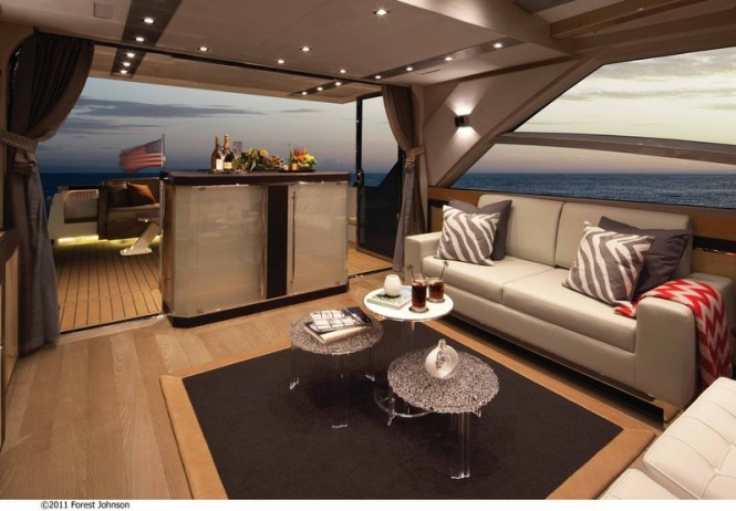 Alpha 76' Express Yacht - Salon Photo credit 2011 Forest Johnson