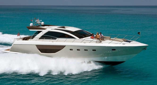 Alpha 76' Express yacht running