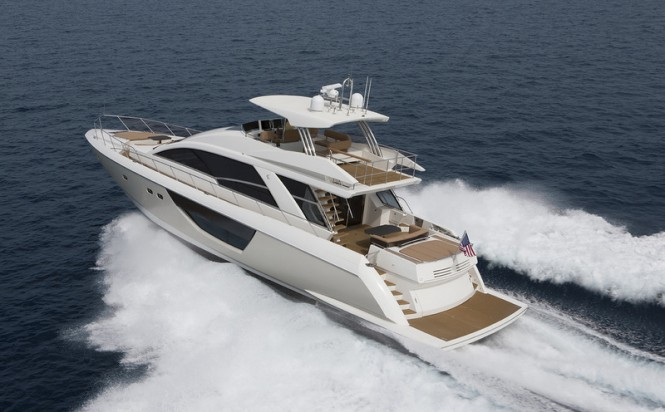 Alpha Express 76 Flybridge yacht - rear view