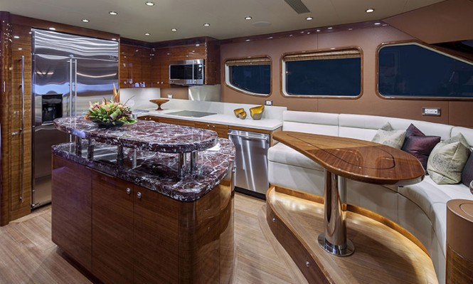 Bravo 88 superyacht - Galley