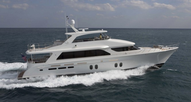 Bravo 88' superyacht - side view