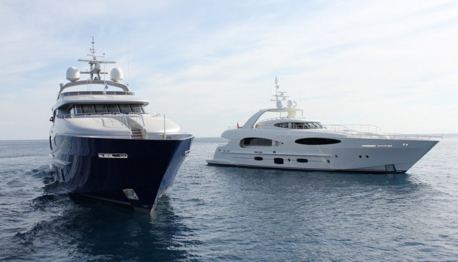 Caprice V superyacht and Bronko I yacht