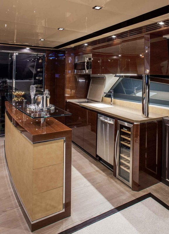 Cheoy Lee yacht Alpha 76 Flybridge - Galley