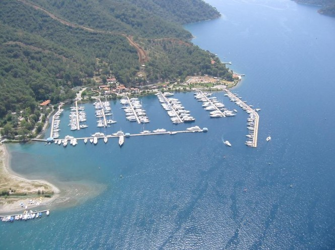 D-Marin Gocek superyacht marina situated in a popular Mediterranean yacht charter destination - Turkey