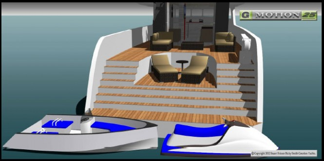 Gmotion 25 Yacht Design - Aft Terrace View