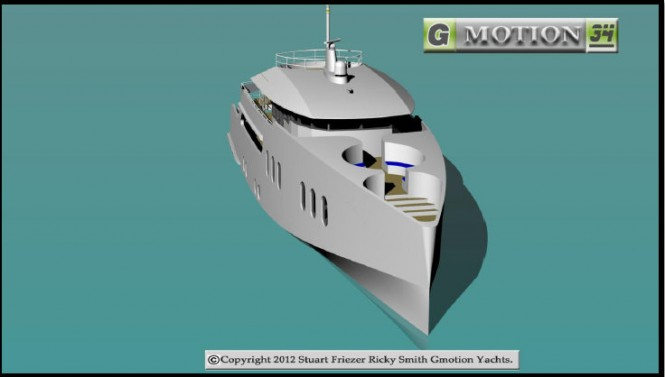 Gmotion 34 Yacht Design - front view