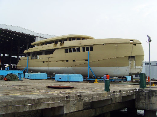 Hull Test of the 44m Superyacht Green Voyager by Kingship