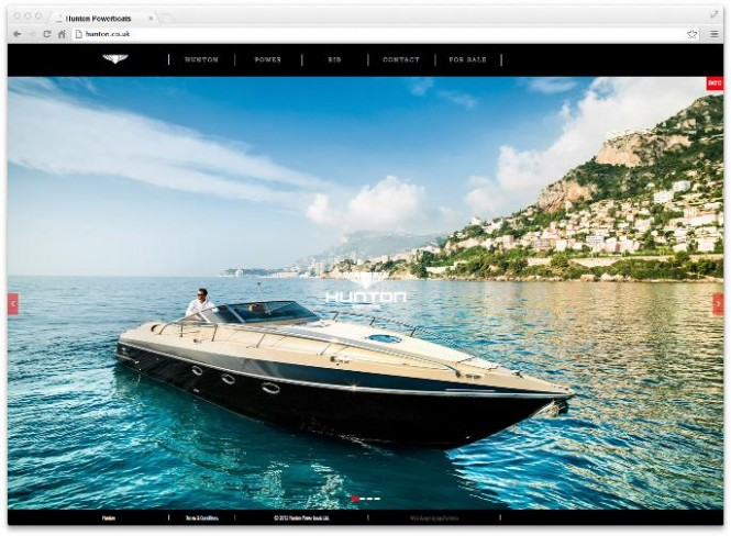 Hunton Powerboats  launch new website - Image courtesy of Hunton