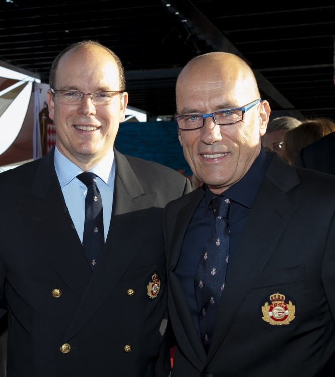 Igor Simcic and Prince Albert II - Photo credit: Yacht Club de Monaco/Franck Terlin