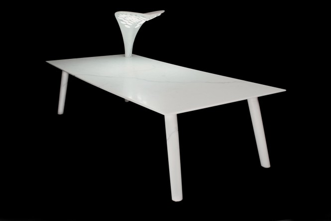 Leaf table by Lanka Marine and Thierry Gauguin presented at MYS 2012