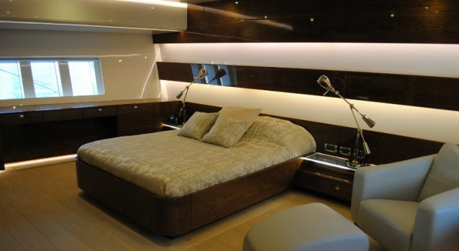 Luxurious cabins aboard Music yacht