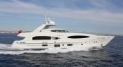 Luxury motor yacht Bronko I running