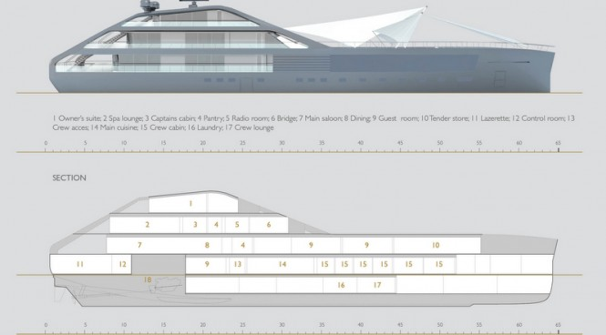Luxury motor yacht Jolly Roger concept