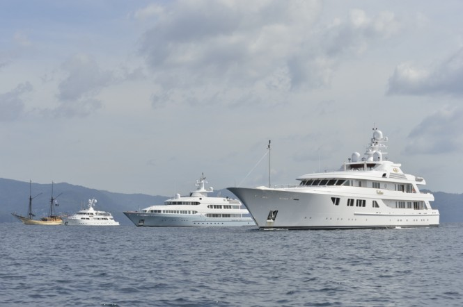 Luxury superyachts hosted by Asia Superyacht Rendezvous 2012