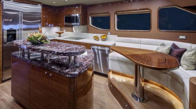 Luxury yacht Bravo 88 - Galley