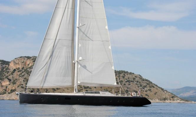Luxury yacht Music under sail
