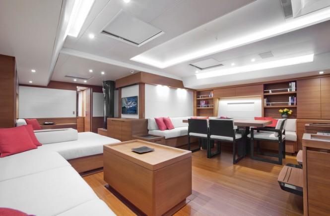 Luxury yacht Windfall - Saloon