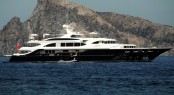 Lyana superyacht at the Aeolian Islands - Sicily - Italy