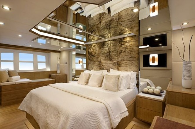 Master Stateroom on the luxury yacht NISI 2400GT