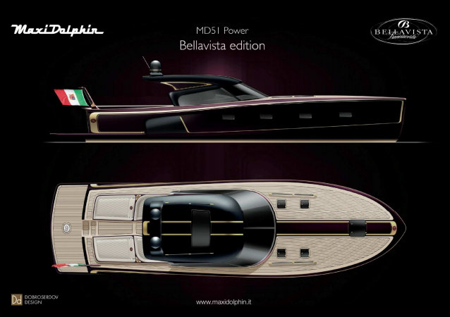 Maxi Dolphin's MD51 Power BELLAVISTA yacht tender