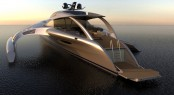 Motor yacht Adastra Aft - Design by John Shuttleworth Yacht Designs