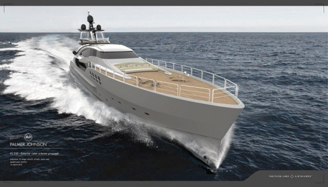 Palmer Johnson Project Stimulus - PJ 210 yacht entirely designed by Nuvolari Lenard - Image courtesy of Nuvolari Lenard