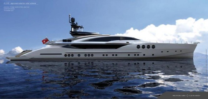 Palmer Johnson superyacht PJ 210 designed by Nuvolari Lenard Design inside-out - Image courtesy of Nuvolari Lenard