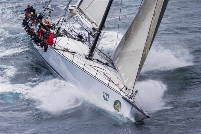 Sailing Yacht RAGAMUFFIN LOYAL plunging through steep chop on first afternoon - Photo by Rolex-Carlo Borlenghi