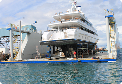 Rybovich drivetrain inspection of the Oceanco Sunrise superyacht