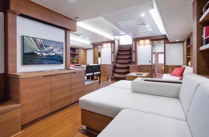 SW 94 superyacht Windfall - TV Lounge