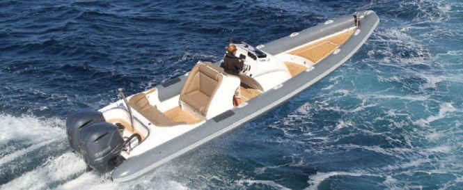 Scorpion Serket 88 yacht tender - chase boat to the 120ft Benetti charter yacht Giorgia