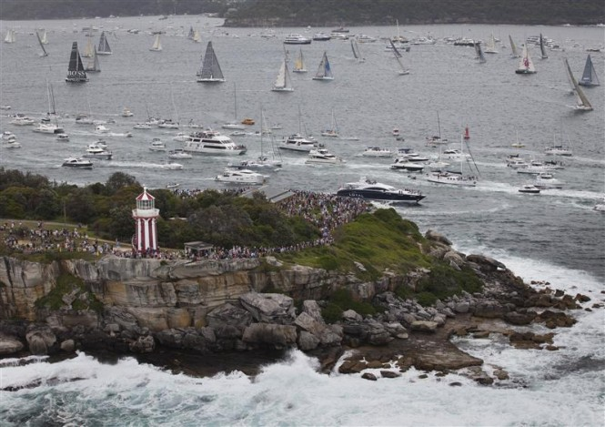 Start of the race in Sydney harbour - Photo by Rolex/Daniel Forster