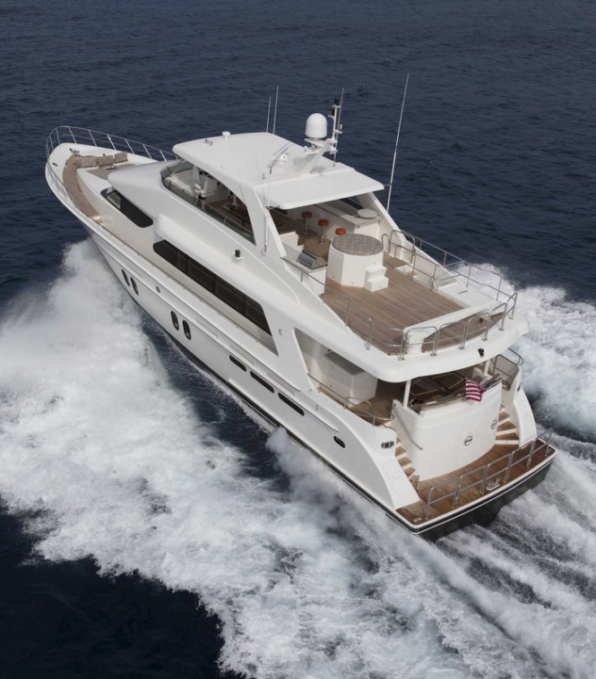 Superyacht Bravo 88' - rear view