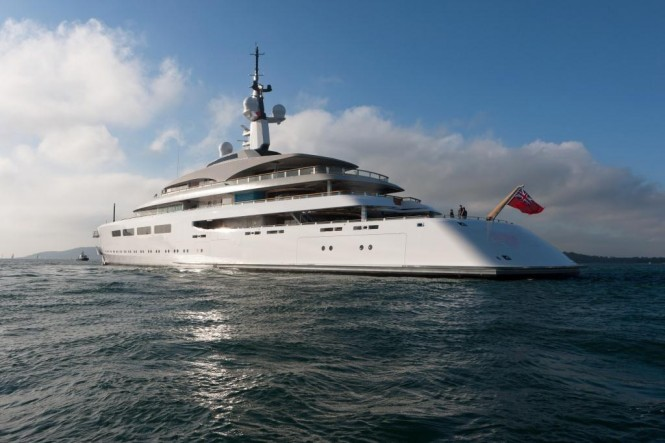 Superyacht Vava II - most notable BMT Nigel Gee work completed in 2012 Photo by Trevor Burrows