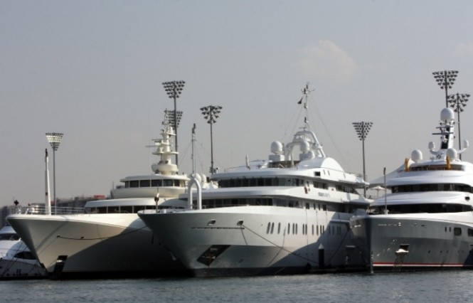 Superyachts at Yas Marina