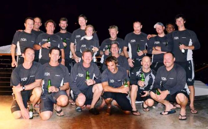 The crew of Ran Leopard yacht at YCCS Virgin Gorda Photo credit YCCS