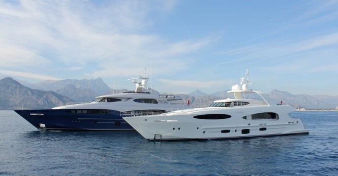 Vulcan 32m luxury yacht Bronko I and Vulcan 46m Caprice V superyacht