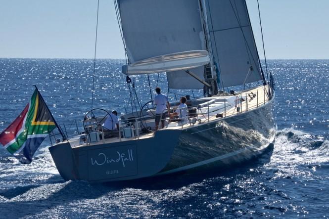 Windfall yacht - aft view