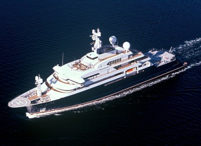 126 m Lurssen superyacht Octopus that visited London in summer 2012 - Photo Credit Lurssen Yachts