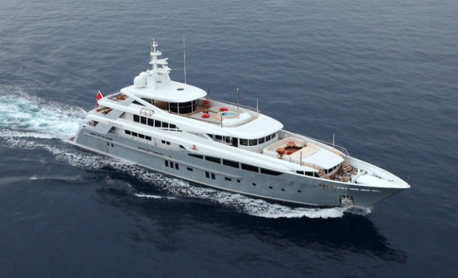 2 Ladies superyacht - view from above