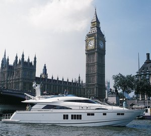 First luxury yachts arrive for the Tullett Prebon London Boat Show 2013