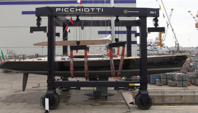 31 m sailing yacht Xnoi by Perini Navi at launch