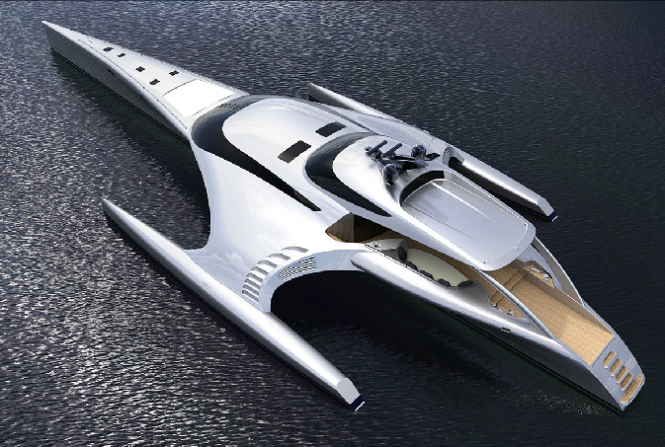 42 m luxury trimaran yacht ADASTRA by McConaghy Boats
