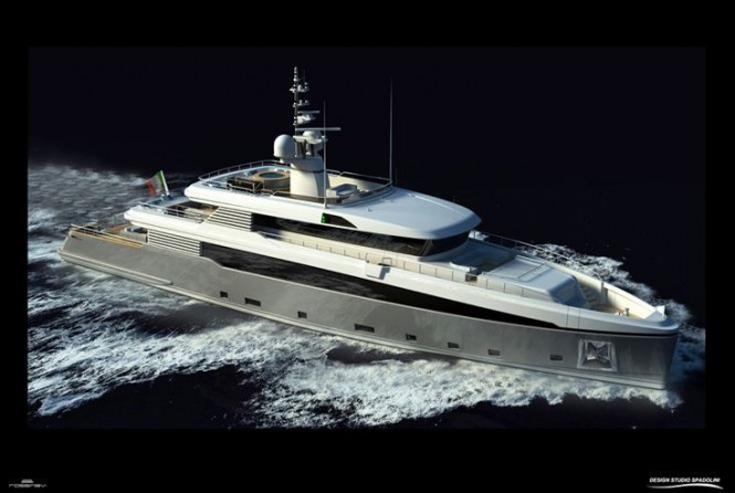 45 m Rossinavi luxury yacht Aslec 4