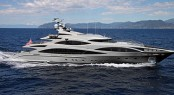 47 m Benetti Yacht with interior design by Rhoades Young