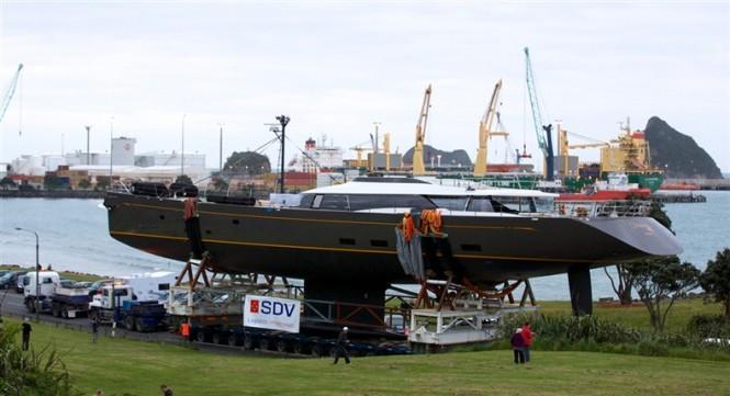 50 m Fitzroy Yacht Ohana at launch