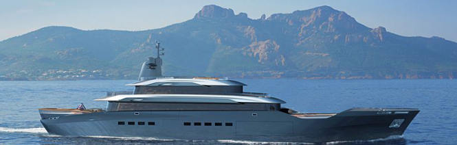 50 m yacht conversion project by Matthew Wilkinson and Kyle Forster